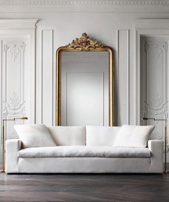 Through the Looking Glass :: Mirrors in Home Decor. Image via Restoration Hardware