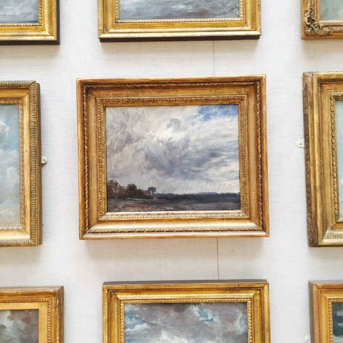The Yale Museum of British Art. John Constable's study of clouds.