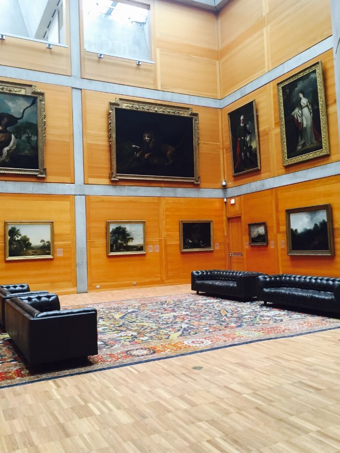 The Yale Museum of British Art. The vast and impressive Library Court.