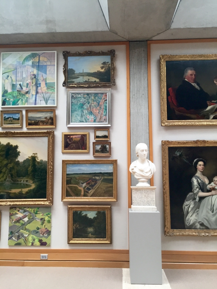 The Yale Museum of British Art. Two sections of the Long Gallery.