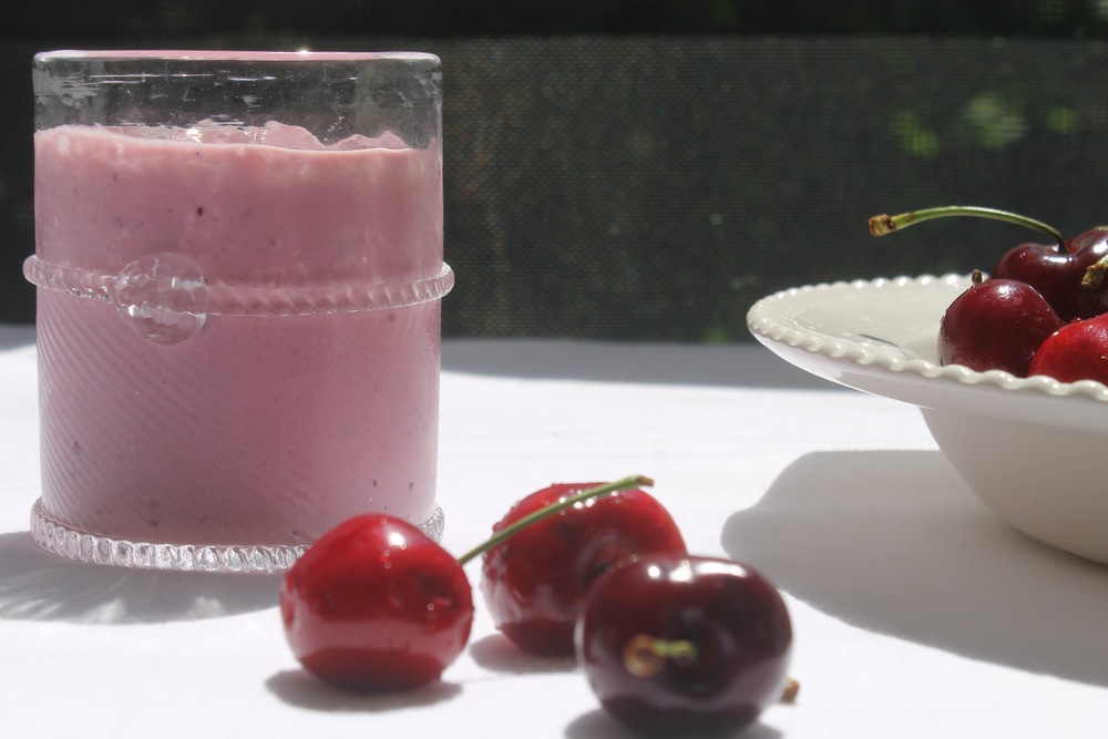 Super Healthy Smoothie with a Cherry on Top! Via The Entertaining House