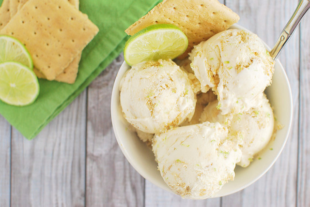 Key Lime Pie Ice Cream.  Via