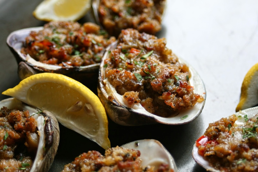 Eating Like a New Englander. Stuffed Quahogs. Image via I The Cook.