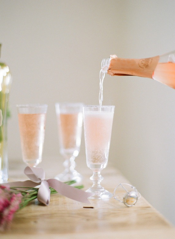 St. Germaine and Pink Champagne is a perfect summertime treat. Image via Bright and Beautiful blog.