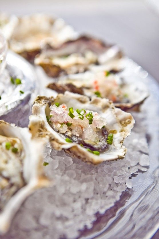 Stylish Bites :: Celebrating National Oyster Day. Image via Jessica Gordon Ryan/The Entertaining House - Learn how to shuck an oyster from  Not Without Salt  .