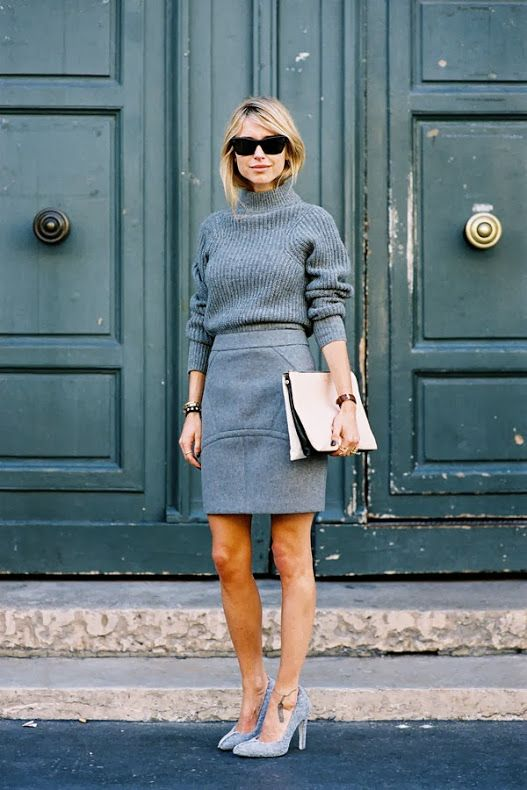 Grey Matters :: Neutral's most exciting color via The Entertaining House. Image via WhoWhatWear