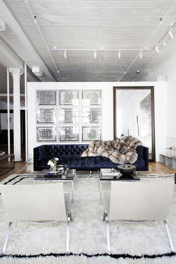 Seating Arrangements :: The Velvet Touch, is it for you? Image via The Style Files