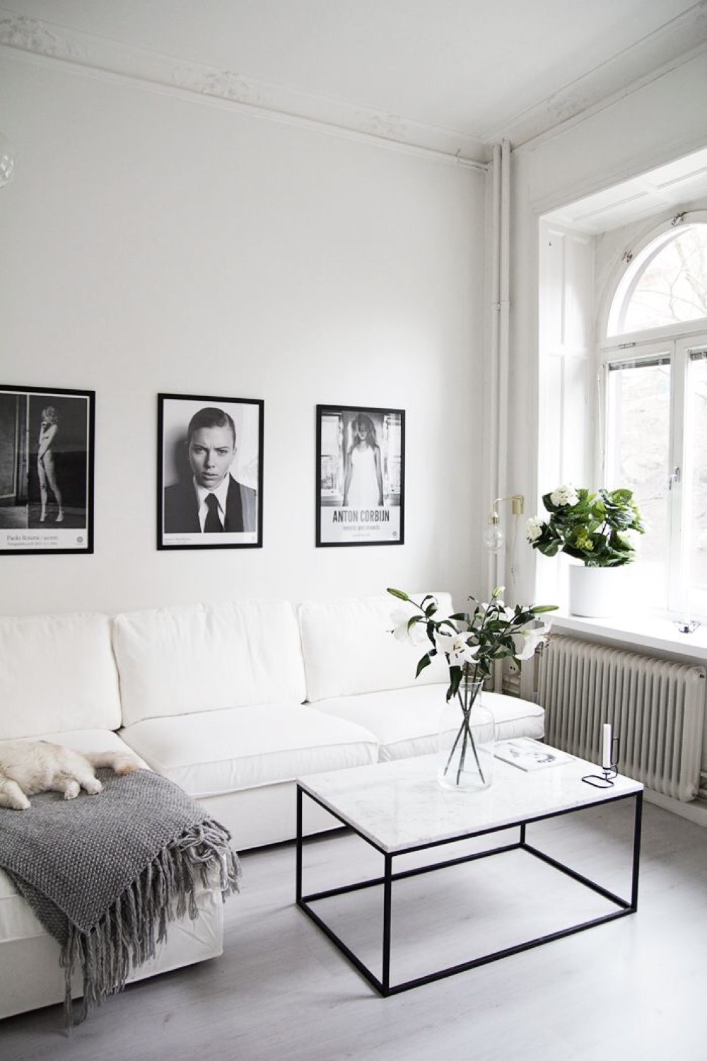 The White Couch :: Your Blank Canvas to Design. Original source unknown