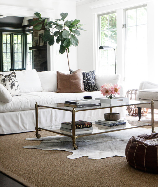 The White Couch :: Your Blank Canvas to Design. Image via First Dibs
