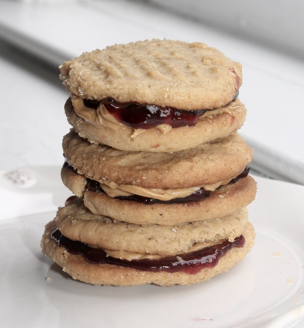 PB (Cookie) & J Sandwiches. The Entertaining House