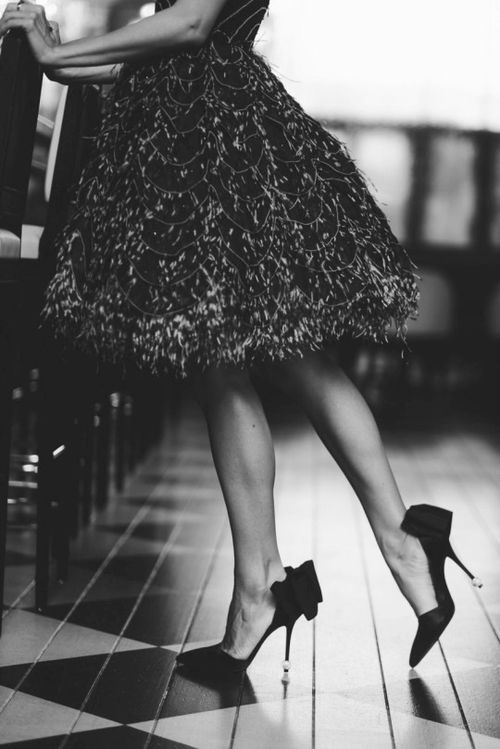 Black dress with white heels tumblr