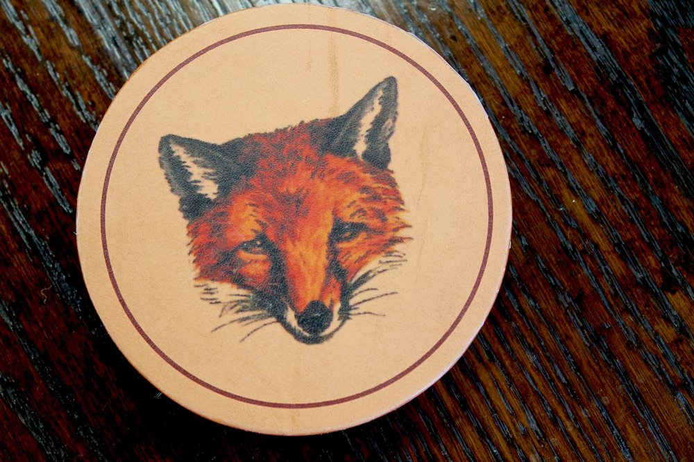 Lattice House's Pop-On-Pequot Arrives for the Holidays. Fox coasters