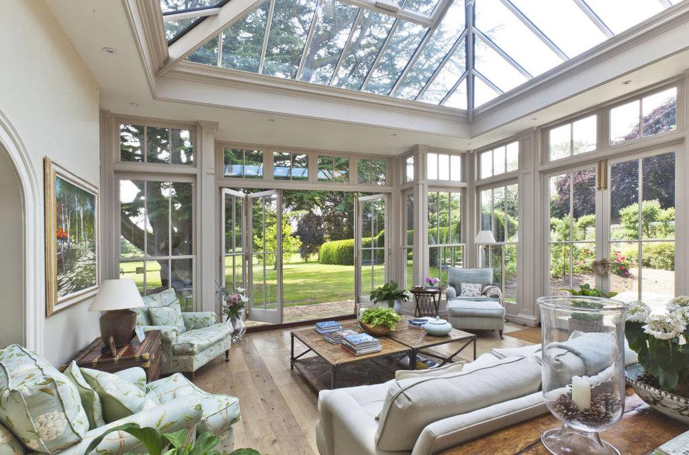 Glass Ceilings Image via  Vale Garden Houses