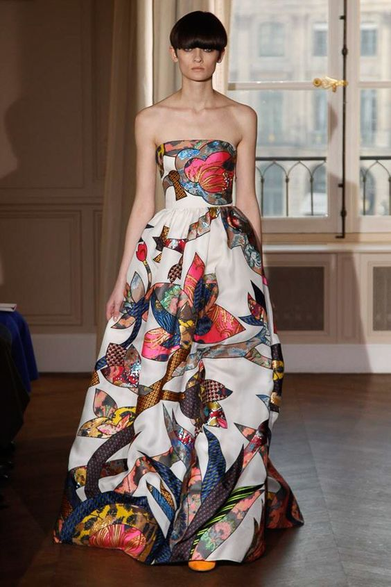Floral Notes :: What to wear this spring. Image Schiaparelli, Vogue