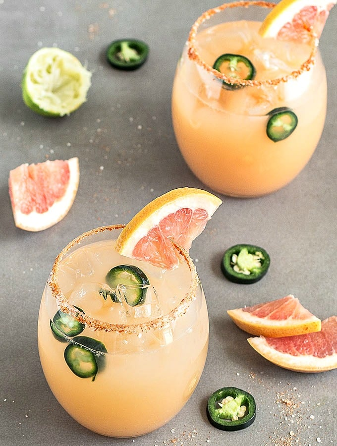 National Margarita Day. Recipes and Roundups. This Spicy Grapefruit is  Easy as Apple Pie