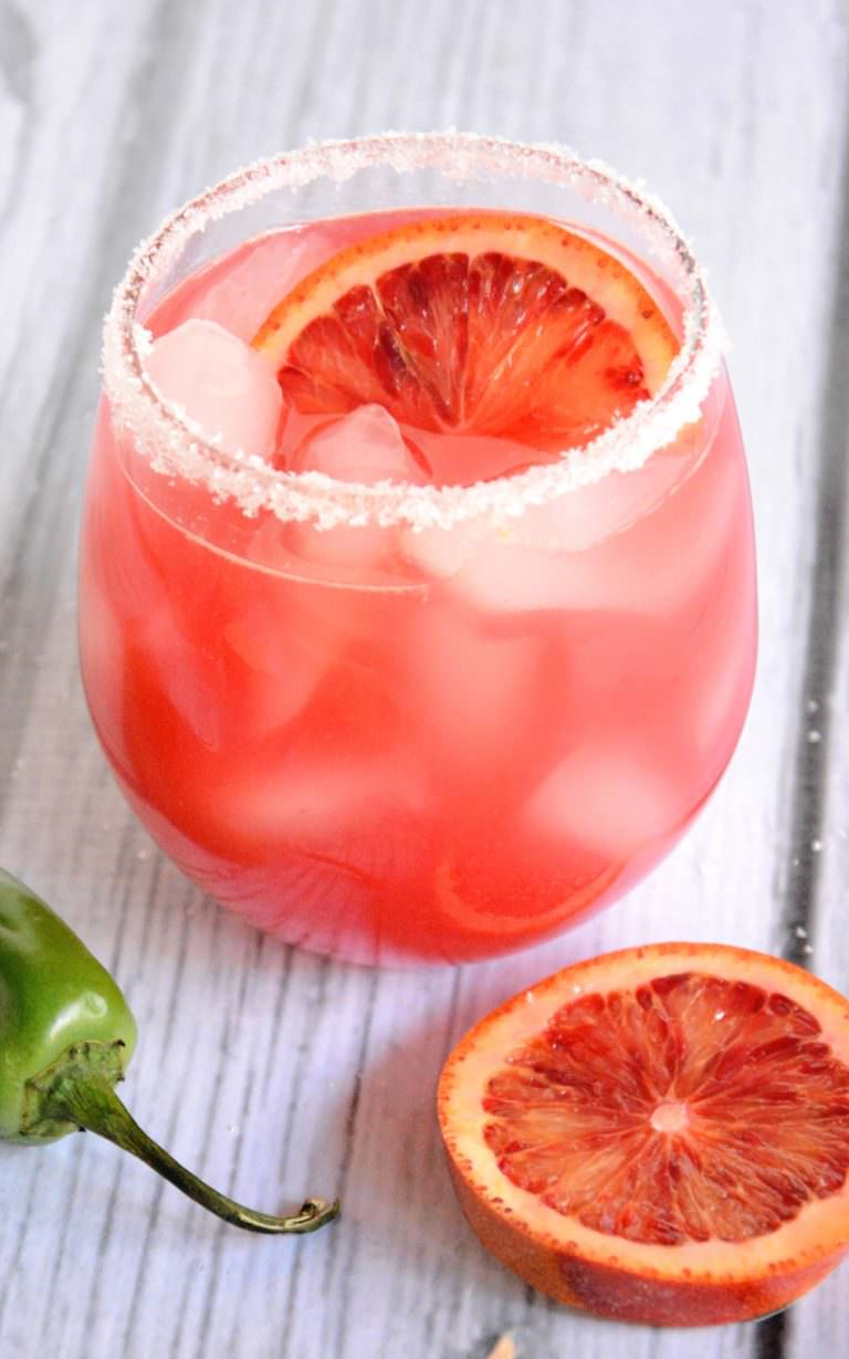National Margarita Day. Recipes and Roundups. Blood Orange Margarita  Via With Salt and Wit