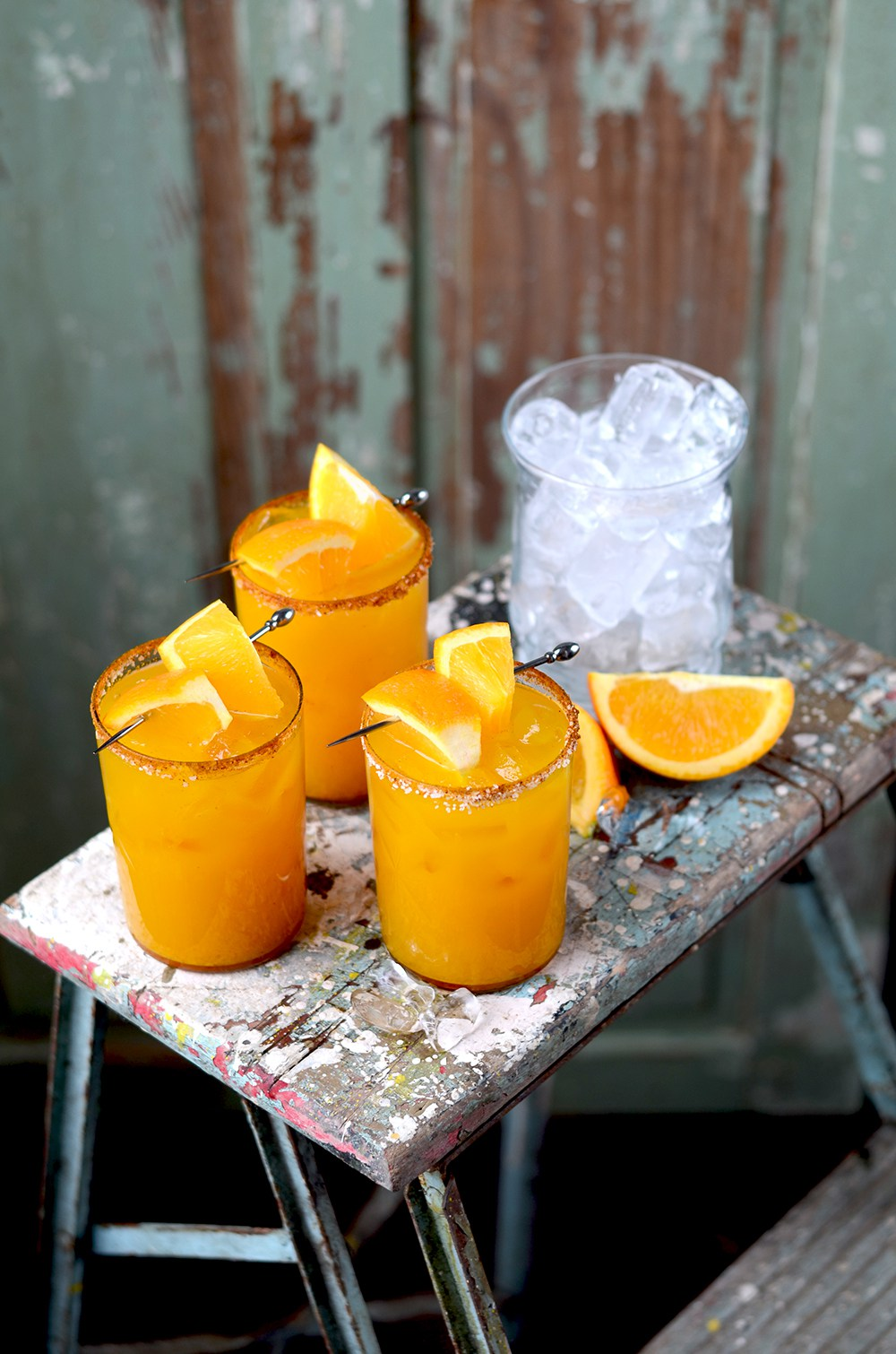 National Margarita Day. Recipes and Roundups.  Orange Tumeric Margaritas ,