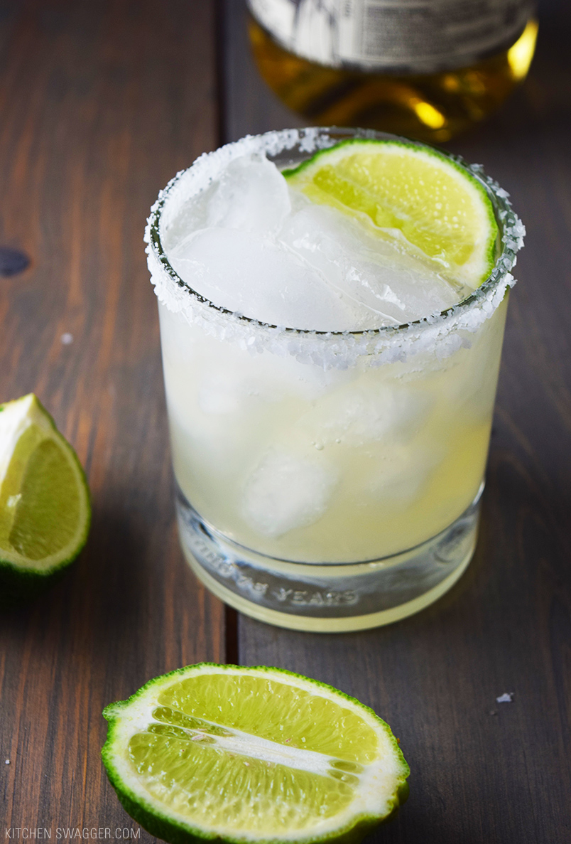 National Margarita Day. Recipes and Roundups. Reposado Elderflower Margaritas via  Kitchen Swagger