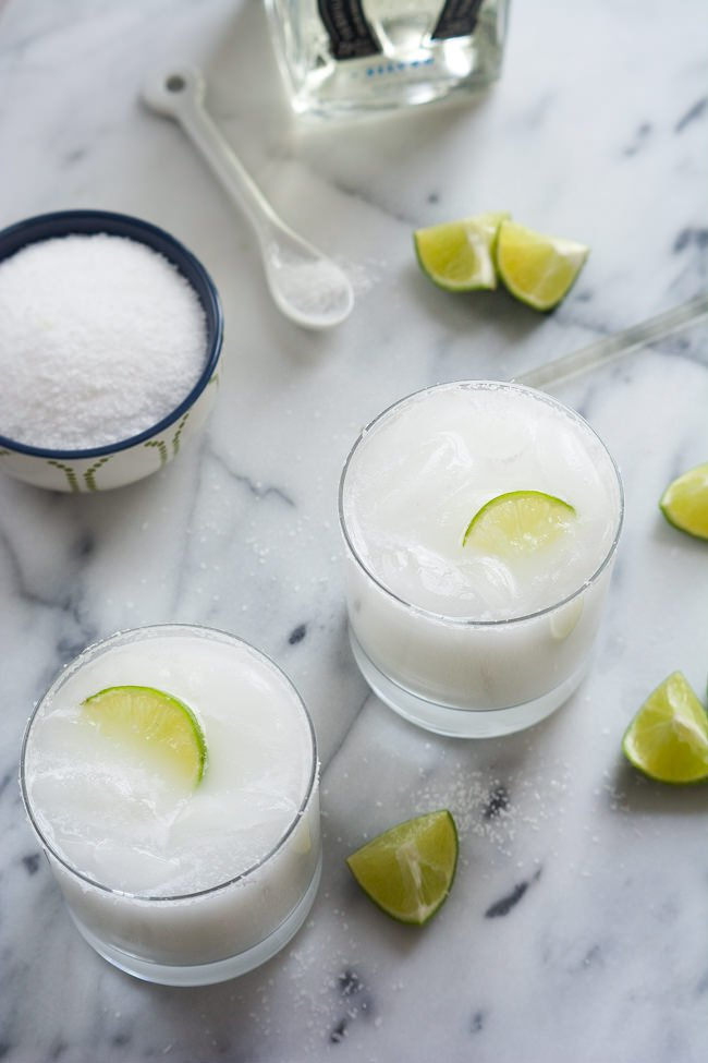 Celebrate National Margarita Day. Recipe roundup. Skinny Coconut Margarita via With  Salt and Wit
