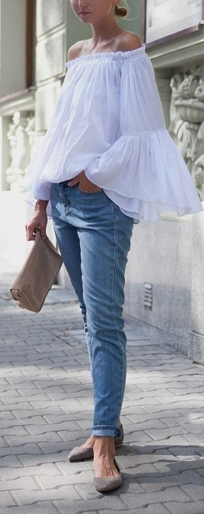 The Little White Blouse. Image via Cranberry Chic