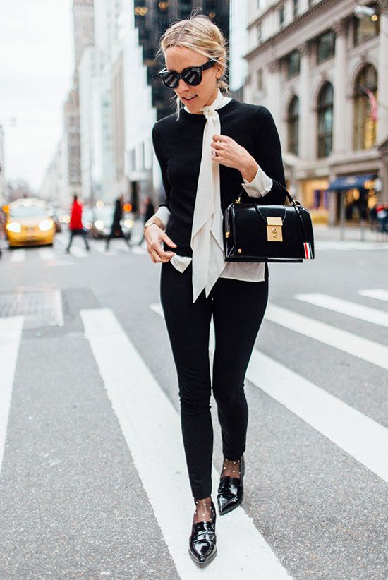 Celebrating the Little Black Sweater. Image via Be. Daze. Live.