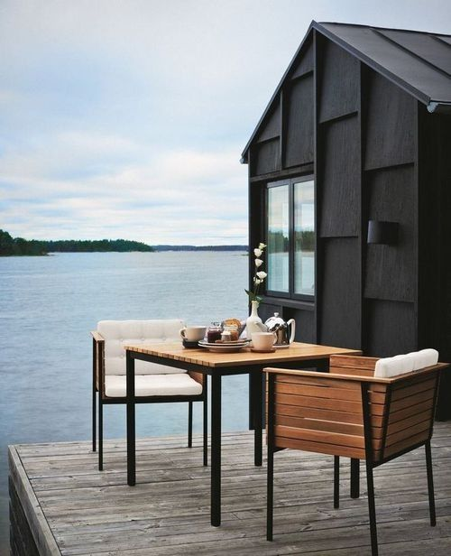 Little Black Houses - Image via  Chic et Deco