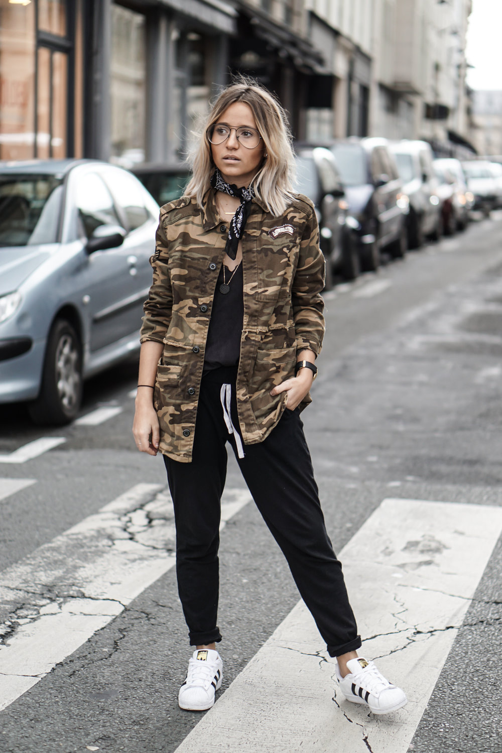 Because she Camo! She's French... bien sur! Image via Noholita
