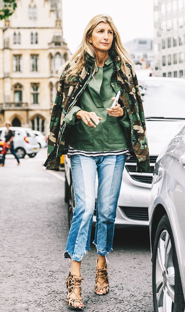 When in Europe... Go Camo! Image via Style du Monde.