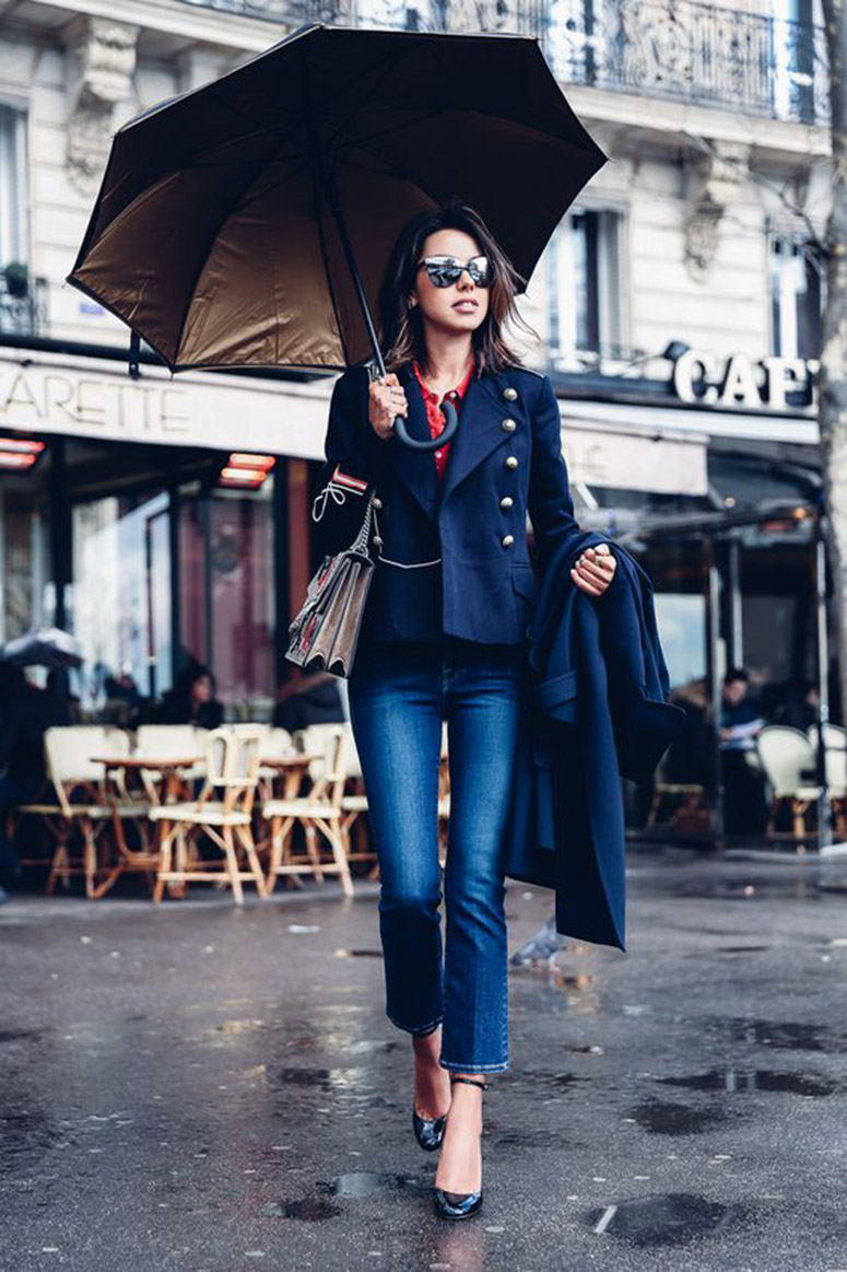 Military Jacket Sophistication - Image via Gurl.com