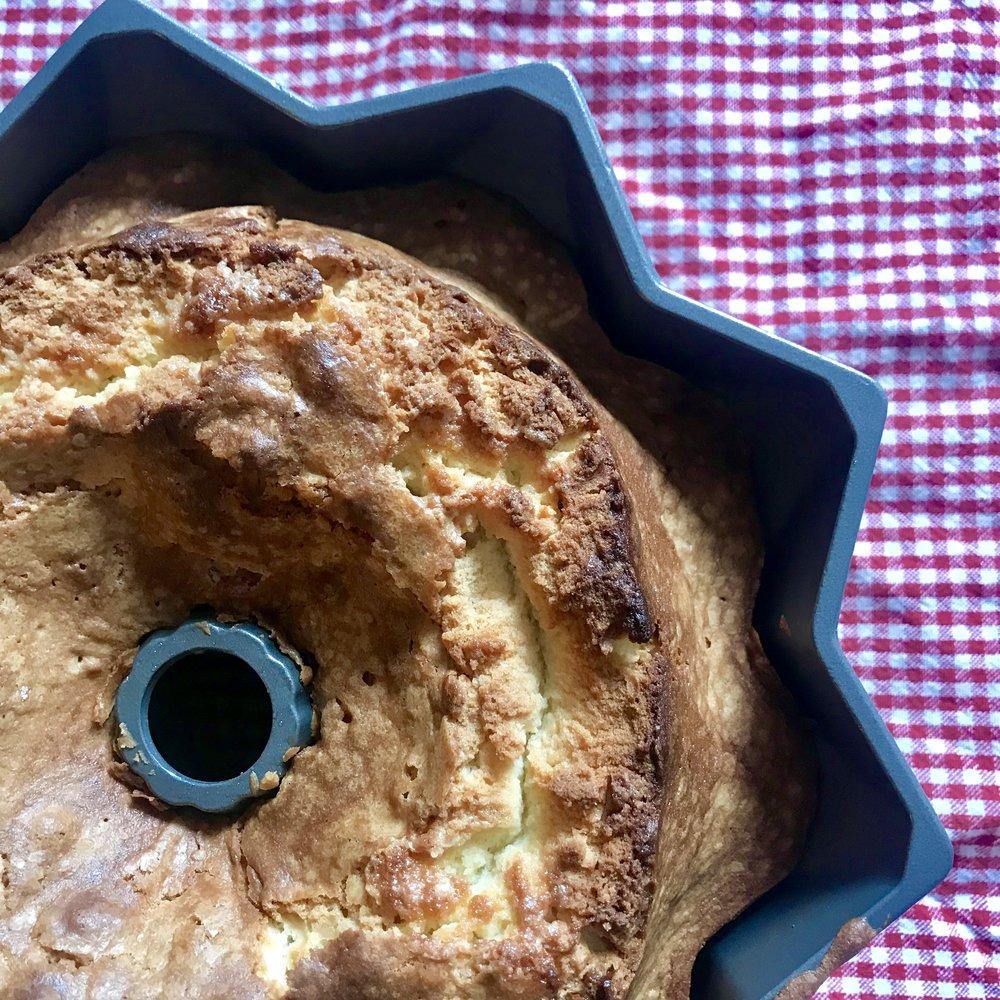 The best ever eggnog pound cake