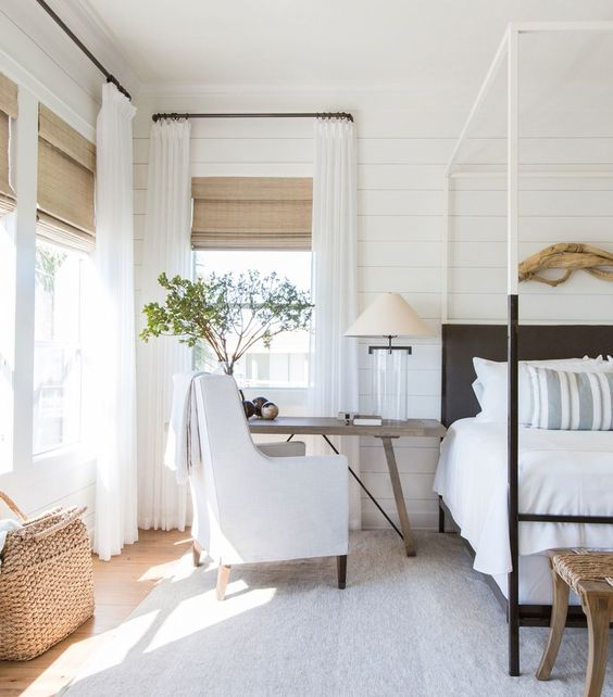 Living Mindfully - Texas Beach Bedroom, Architectural Digest - Julie Soefer Photography/Courtesy of Marie Flanigan Interiors