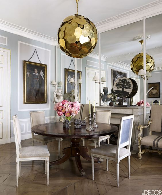 Mindful homes - Dining Room photographed by Bjorn Wallander for ElleDecor