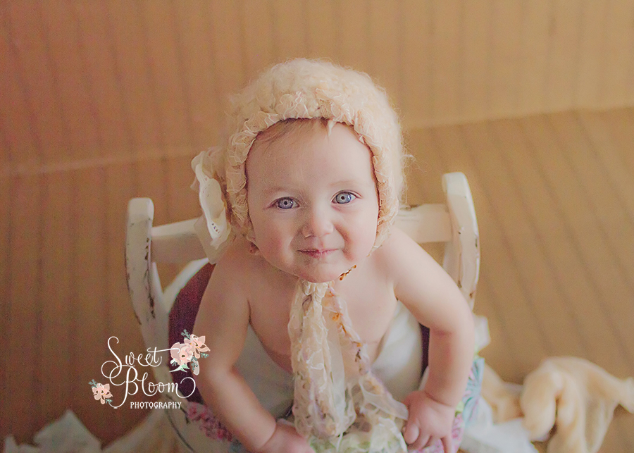 Dayton Ohio Baby Photographer 1st Birthday Session | Sweet Bloom Photography | www.sweetbloomphotography.com