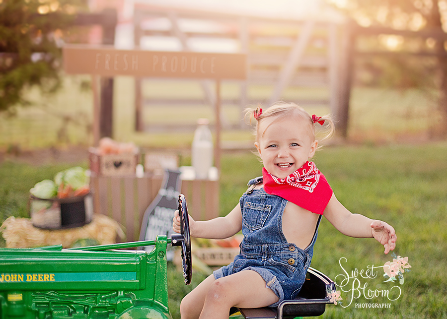 Farm Stand Tractor Mini Sessions | Sweet Bloom Photography | www.sweetbloomphotography.com