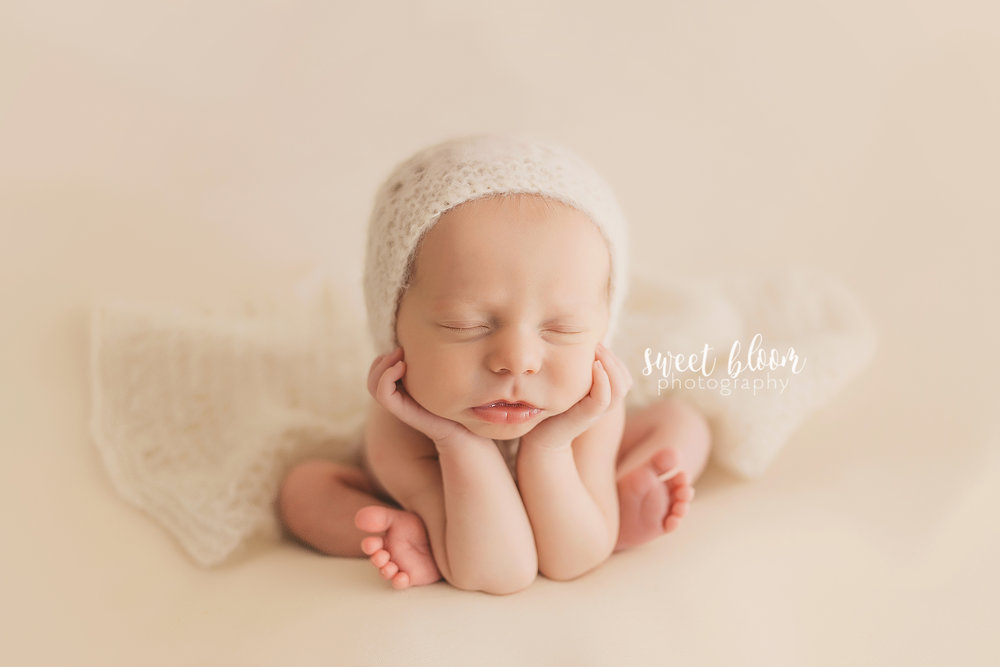 Newborn photographer lexington ky froggy pose jpg