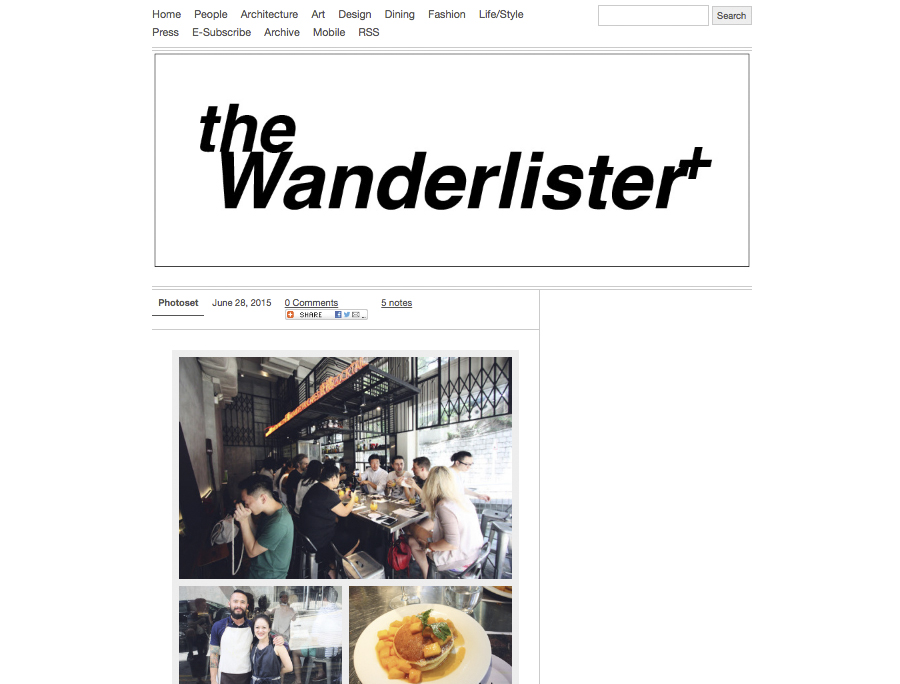 THE WANDERLISTER