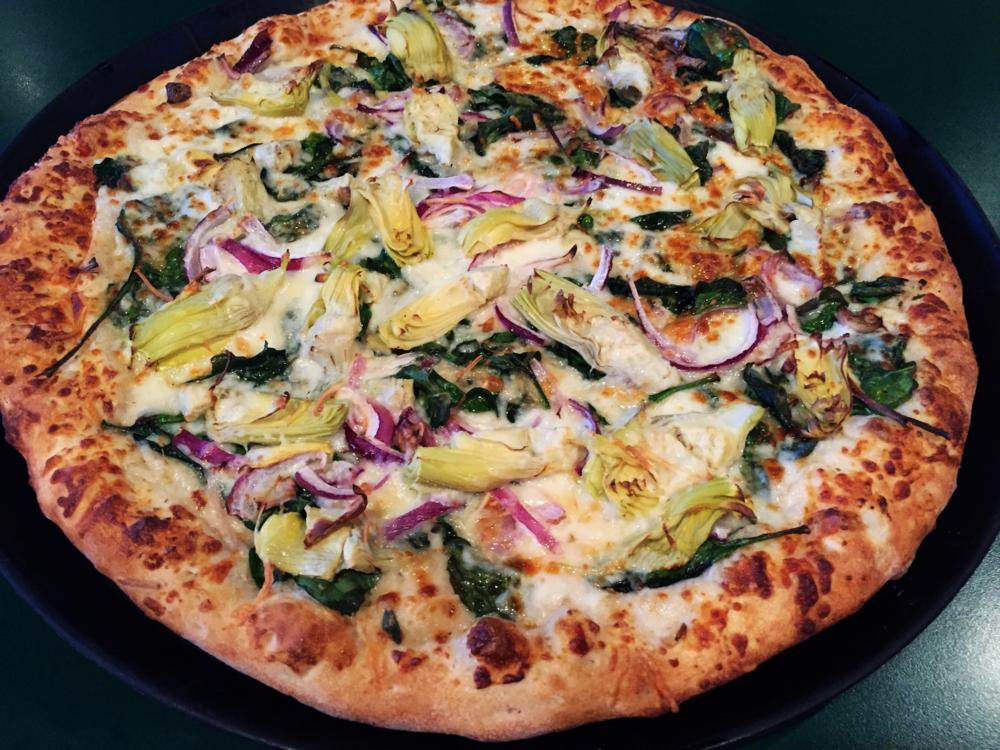 3-Cheese Spinach Artichoke Pizza