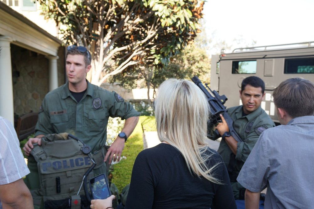 Members of the force demonstrating tactical gear