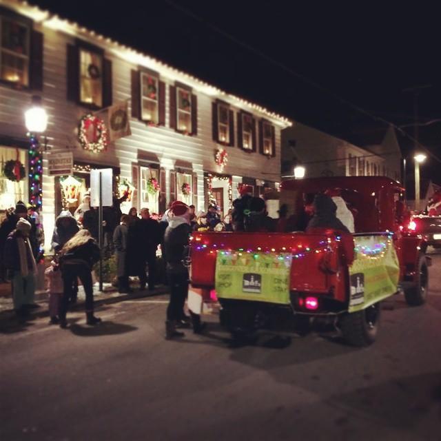 We got to light up this truck tonight for the town light up night parade! #saxonburg #lightupnight #parade #powerwagon