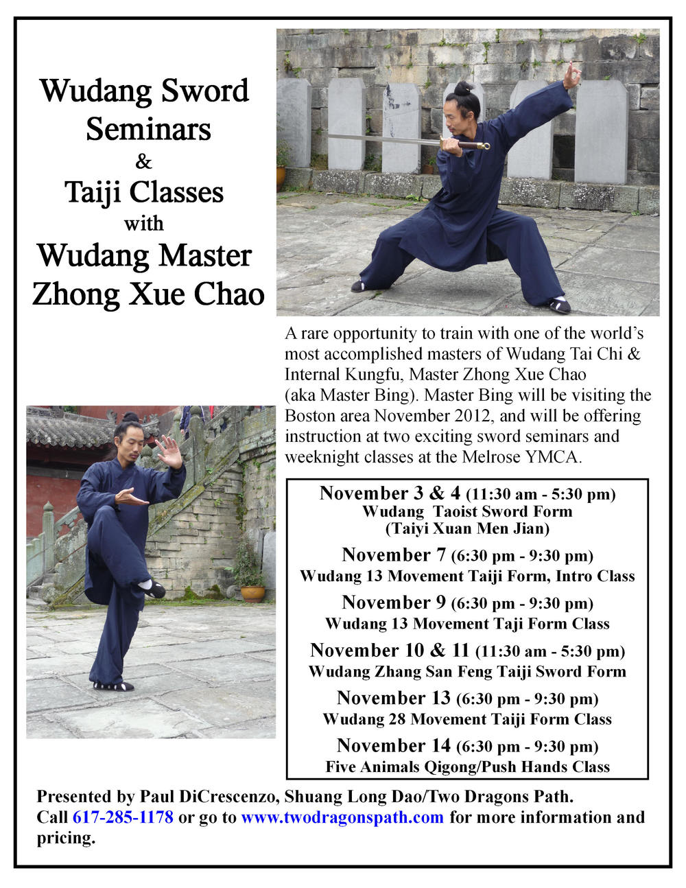 Master Bing Fall 2012 Seminars