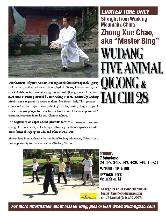 CA Qigong & TaiChi class