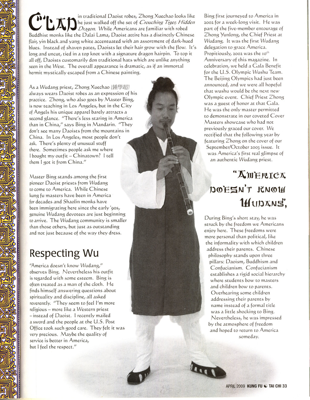 Master Bing on Kung Fu Magazine 03