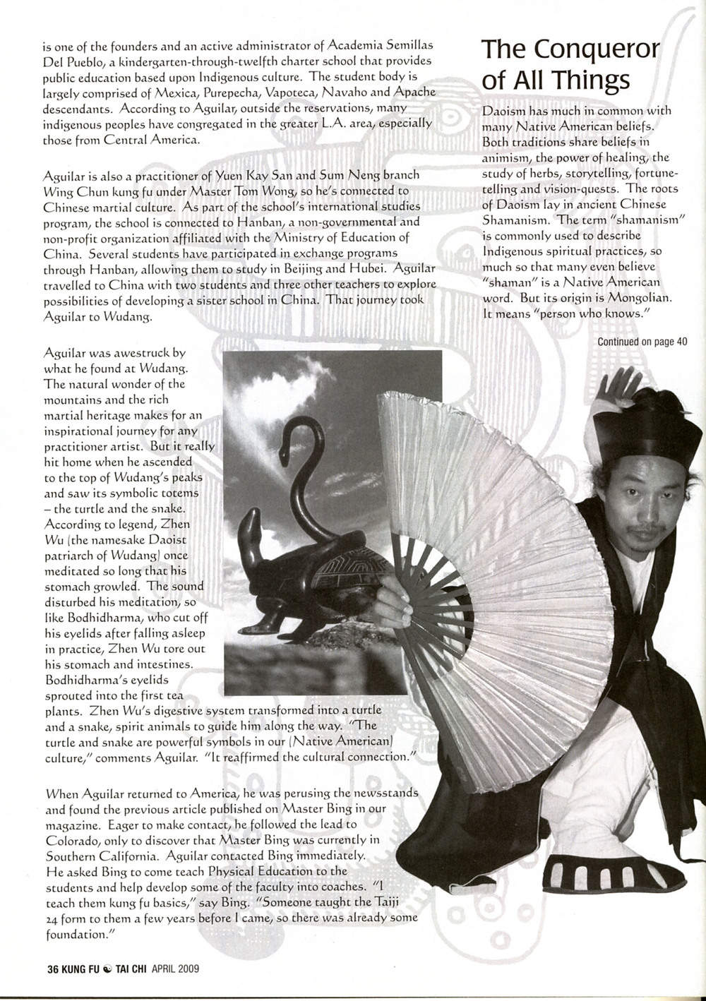Master Bing on Kung Fu Magazine 07