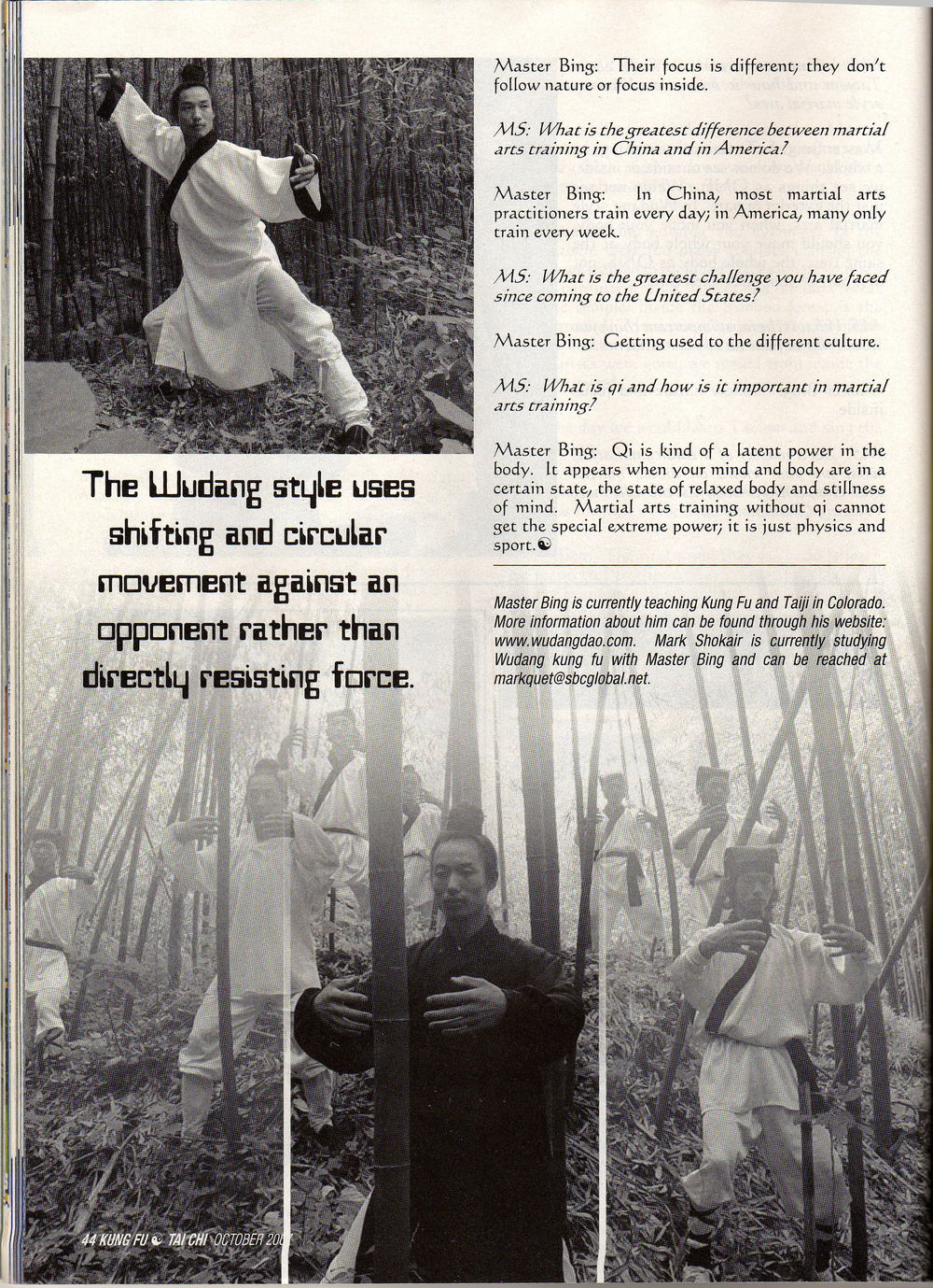 Master Bing on Kung Fu Magazine 5