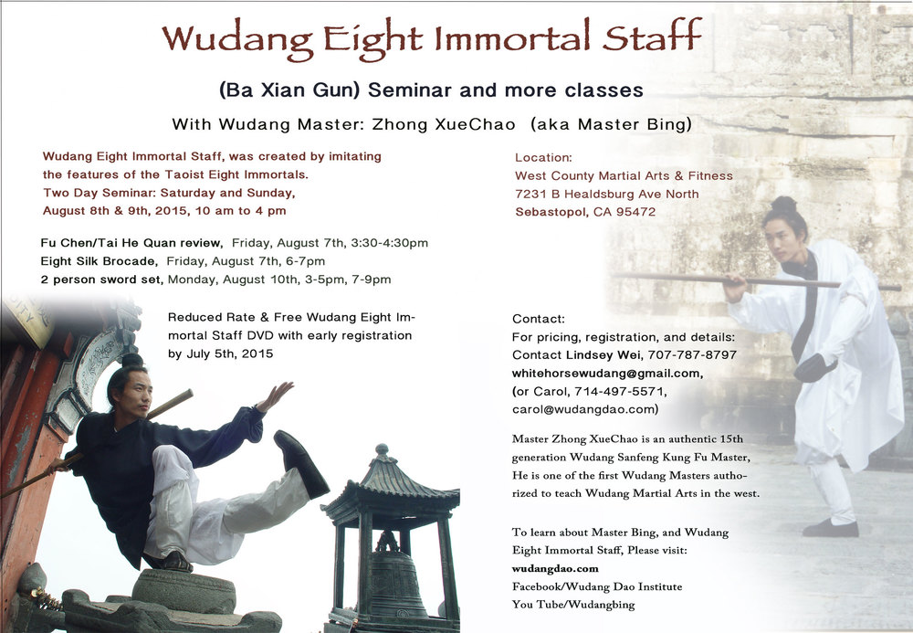 Wudang 8 Immortal Staff Seminar with Master Bing