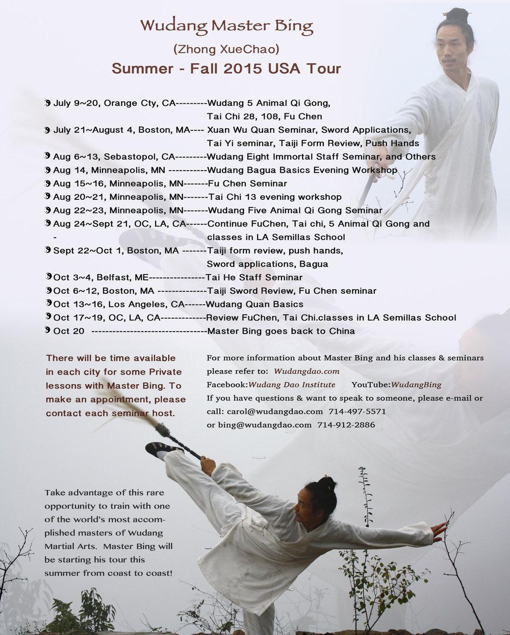 Master Zhong XueChao USA tour 2015