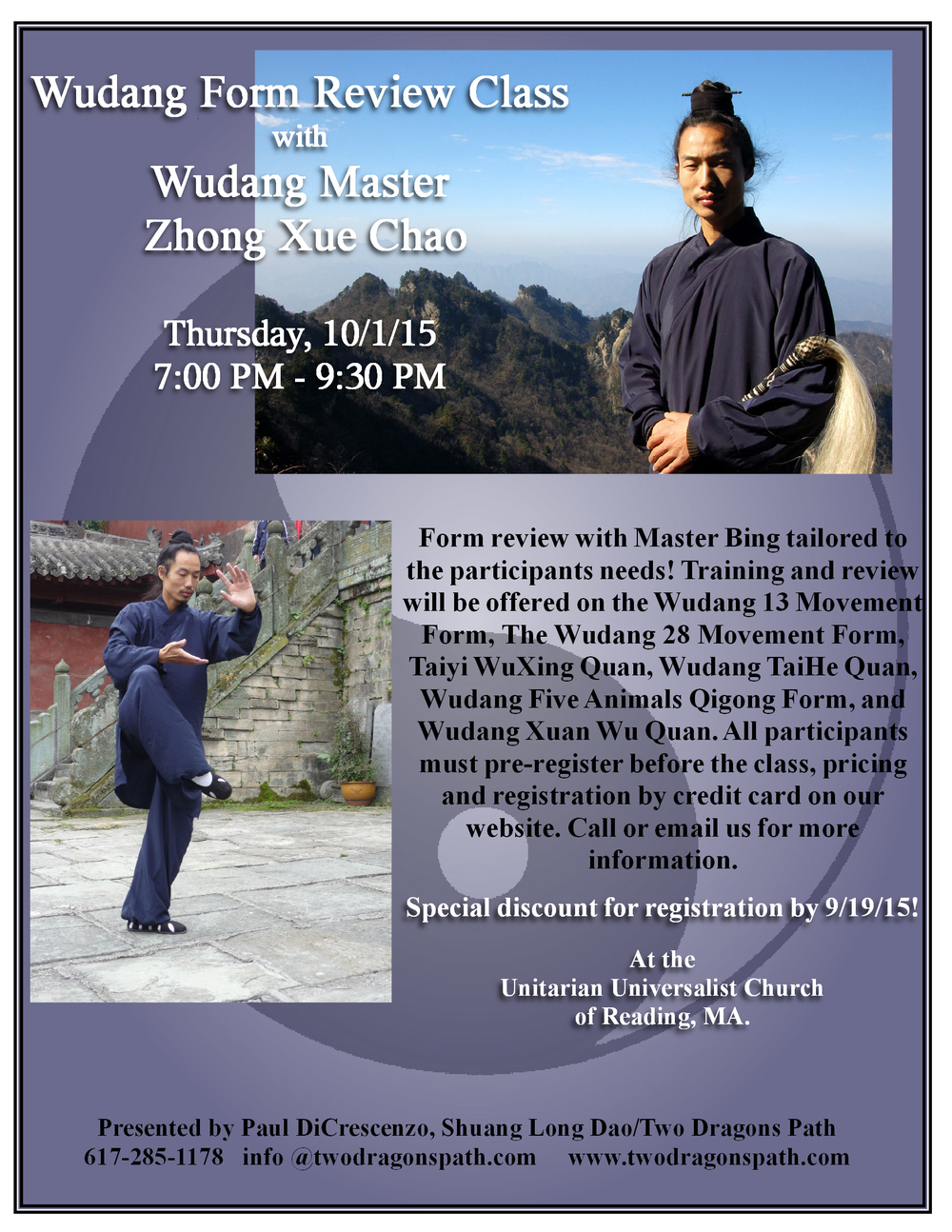 Wudang gong fu & TaiJi in Boston