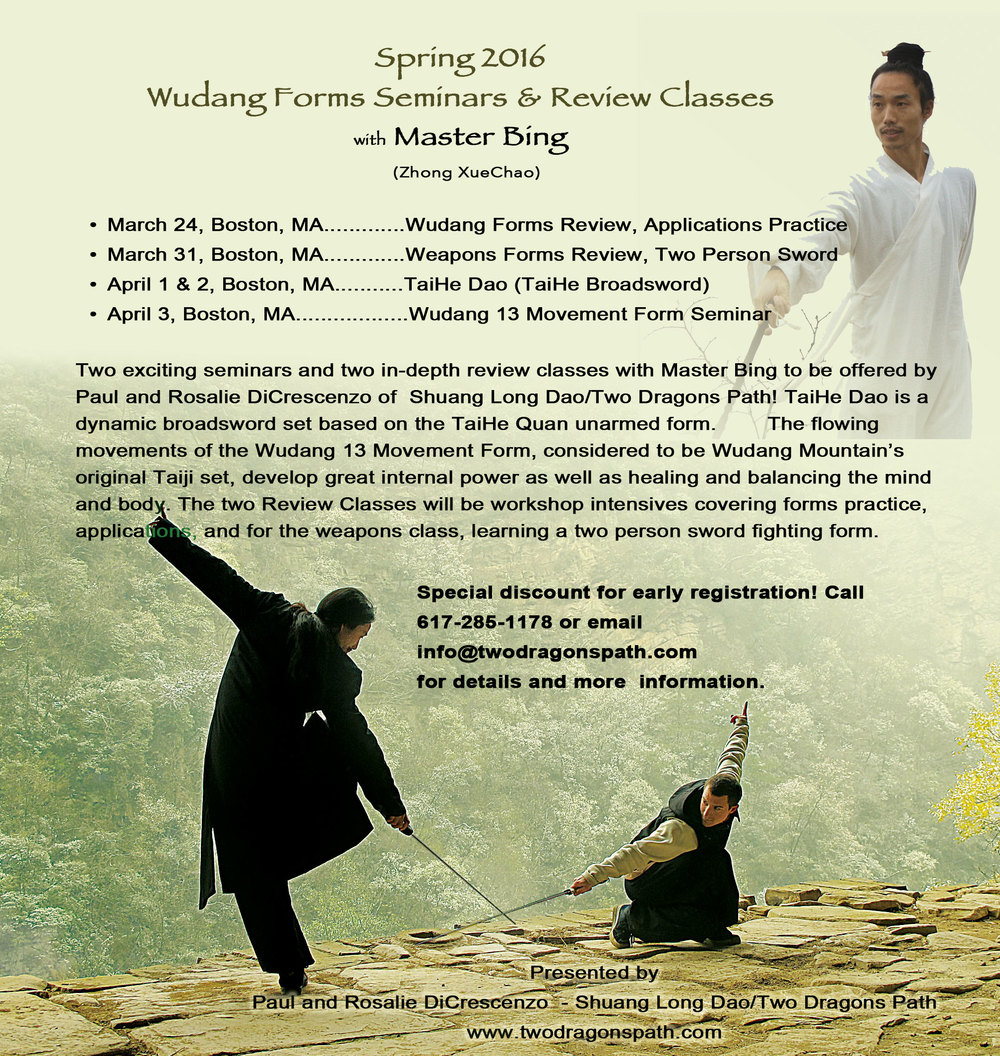 Wudang Seminar with Master Bing
