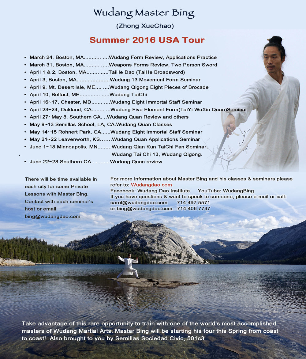 Wudang Master Bing USA tour