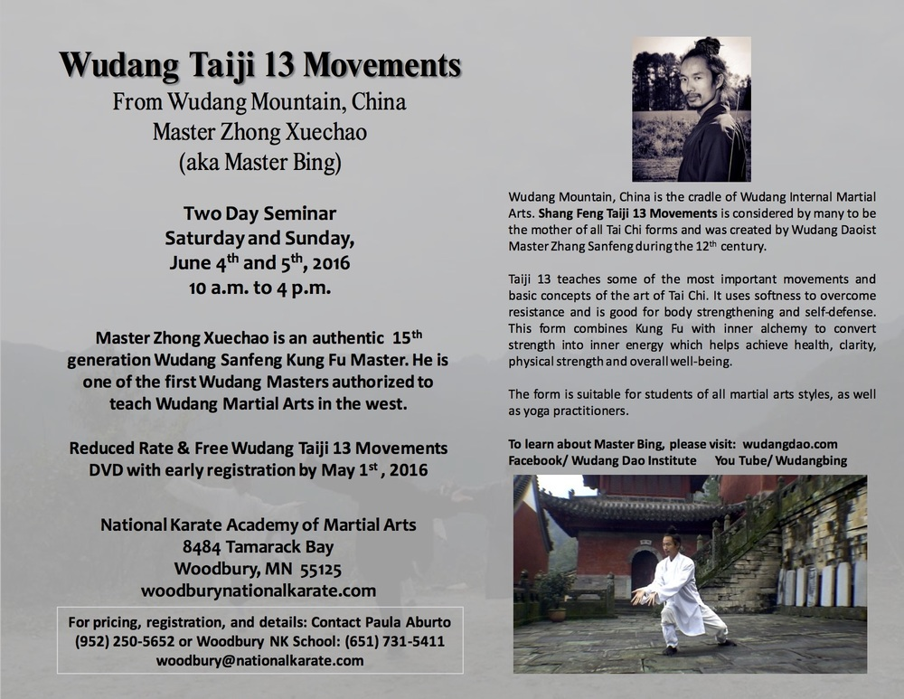 Wudang Tai Chi 13 Movements Seminar